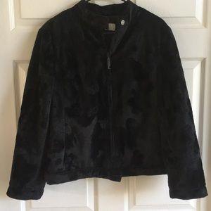 ICEBERG Ice Jeans Black Faux Fur Coat / SZ L